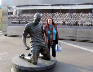 Me and Thierry Henry at the Emirates Stadium in north London last year… Diehard Gooner! (My photo)
