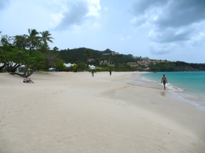The beautiful and famous Grand Anse Beach near St. George's, Grenada has hotels adjoining it but remains a public beach. (My Photo)