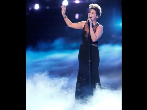 "Tessanne Chin sings ""Bridge Over Troubled Water"" on ""The Voice."" (Photo: NBC)"