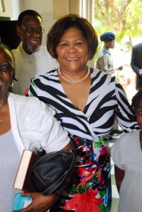Businesswoman Marcia Forbes attending a recent church service. (Photo: Twitter)