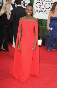Lupita Nyong'o in Ralph Lauren ran away with my Facebook Fashion Police top prize at the Golden Globes last night. By the way, the designer and his wife spend quite a lot of time (especially Christmas) at their Jamaican home...