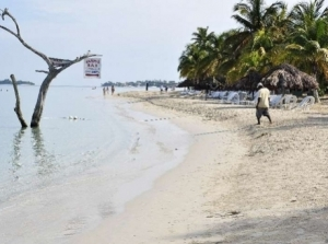 "There are plans to shore up Negril's fast-eroding beach, including the controversial ""shore lock"" technology, and the installation of breakwaters under the Adaptation Fund. (Photo: Gleaner)"