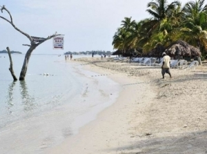 Negril beach erosion. (Photo: Gleaner)
