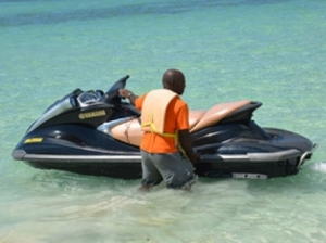 It seems that the jet ski is as dangerous machine as a motor car in Jamaica. (Photo: Gleaner)