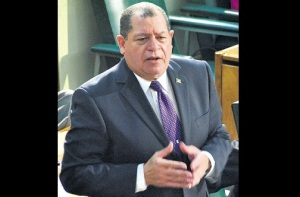 Finance Minister Audley-Shaw is - to use a cricketing term today - batting on a sticky wicket. (Photo: Jamaica Observer)