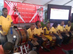 Students from the Genesis Academy for children with special needs perform at the Digicel Foundation's tenth anniversary event.