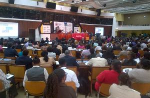 The National Forum on Youth-Violence Prevention took place in downtown Kingston today. (Photo: Jamaica Observer)