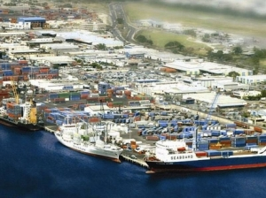 An aerial view of Kingston Wharves Limited.