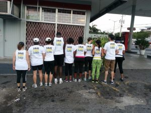 Here is the Jamaica Environment Trust (JET) team at this morning's Sagicor Sigma Run in Kingston, showing their Save Goat Islands credentials! (Photo: JET)