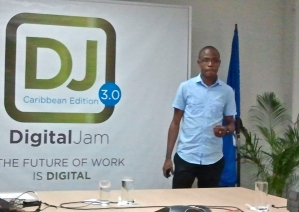 """Young tech entrepreneur Tyrone Wilson of eMedia Interactive Limited told the group to avoid the """"BS"""" and be humble."""