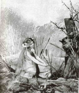 Růžena Maturová as the first Rusalka (Prague, 1901).