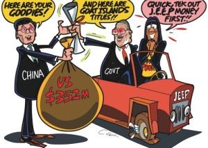 Here's Goat Islands! Jamaica Observer editorial cartoon.