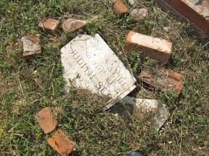 A broken grave.