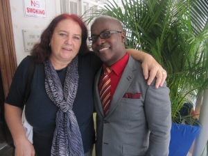 Fabian Brown is a Jamaican I truly admire and respect. Here we are at Nuttall Memorial Hospital.