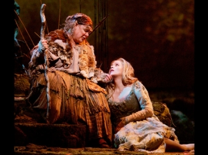 "Dolora Zajick (right) as Jezibaba and Renee Fleming in the title role of ""Rusalka."""