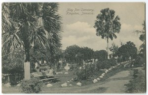 An old picture postcard - what May Pen Cemetery used to look like.