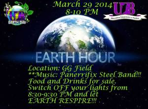 Earth Hour at the University of Belize.