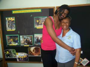 Khalia and YOU's Office Manager Mrs. Margaret Denton