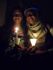 Students from Bishop Anstey Trinity College East Sixth Form celebrating Earth Hour in Trinidad and Tobago.