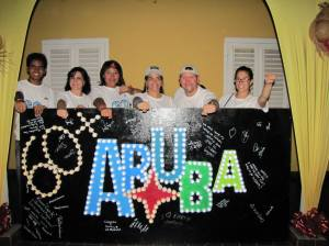 Earth Hour at Fort Zoutman, Aruba. (Photo: Facebook)