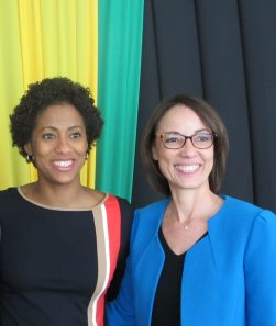 Senators Imani Duncan-Price (left) and Kamina Johnson-Smith, who presented on advancing leadership and gender equality in Jamaica's democracy in the Upper House last Friday. (Photo: Facebook)