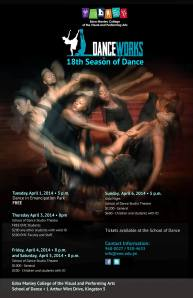 Flyer for Edna Manley School of Dance 18th Season of Performances.