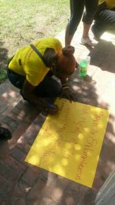 Getting ready for the march for endometriosis, which was attended by over 500 Jamaicans. (Photo: Facebook)