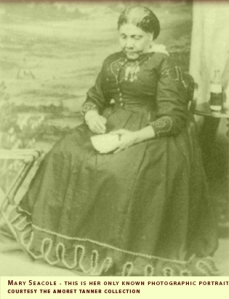 The only known photographic portrait of Mary Seacole, courtesy of the Amoret Tanner Collection.