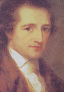 "A young Goethe, painted in 1787 by Angelika Kauffmann. By the way, there was a 2011 film, ""Young Goethe in Love."" Please try to avoid it..."