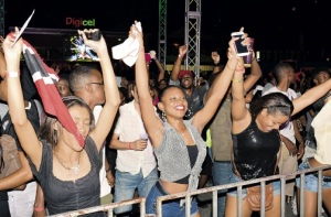 Patrons at the opening night of Bacchanal Fridays in Kingston last week…in anticipation of Carnival. (Photo: Lionel Rookwood/Jamaica Observer)
