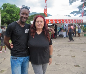Jay and me at last year's World AIDS Day event at the University of the West Indies.