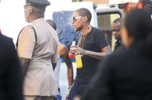 Vybz Kartel going into the courthouse last week.