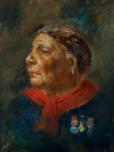 Mary Jane Seacole (née Grant) by Albert Charles Challen oil on panel, 1869 9 1/2 in. x 6 1/4 in. (240 mm x 180 mm) Purchased with help from the National Lottery through the Heritage Lottery Fund, and Gallery supporters, 2008 (National Portrait Gallery)