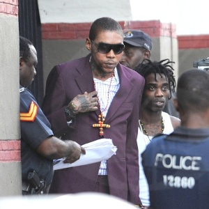 Vybz Kartel (Adijah Palmer) outside court this week.