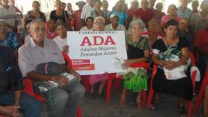 ADA leaders in El Salvador join the campaign by calling on their authorities for better access to healthcare! (Photo: HelpAge International Jamaica Facebook page)