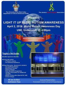 World Autism Awareness Day event at the University of the West Indies.