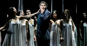 Flower maidens try to lead Parsifal (Jonas Kaufmann) astray. (Photo: Sara Krulwich/New York Times)