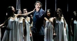 Flower maidens try to lead Parsifal (Jonas Kaufmann) astray. (Photo: Sara Krulwich/New York Times)