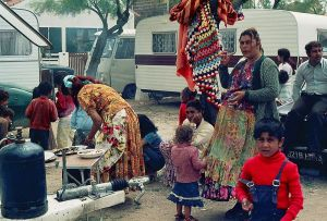 Christian gypsies during the pilgrimage at Saintes-Maries de la Mer, France. Many Romani communities today are Muslims. (Photo: Wikipedia Commons)