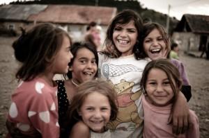 Romani children in Romania.