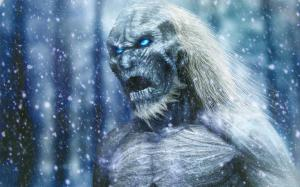 One of the fearsome White Walkers. Not easy customers to deal with, as you can imagine.