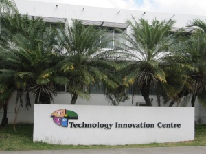 The Technology Innovation Centre is a special unit of the School of Entrepreneurship, College of Business and Management at Kingston's University of Technology (UTech). (My photo)