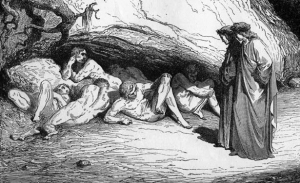 "A part of Gustav Dore's illustration of Dante's ""Limbo."""