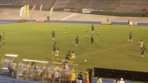 Kick-off at the National Stadium Monday evening. (Photo: Petre Williams-Raynor/Twitter)