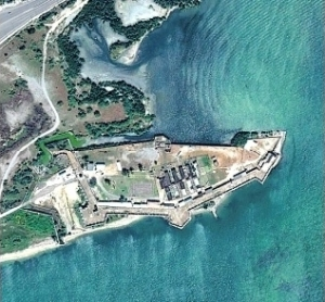 Fort Augusta, built in the 1740s and used as a women's prison, from the air. About a year ago, China Harbour Engineering Company decided it would not go ahead with developing the area as a port. I believe the Memorandum of Understanding signed with the Jamaican Government last year for a feasibility study has now expired.
