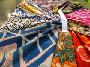 Bright textiles from Seaforth High School in St. Thomas - which had a rich display of art and craft.