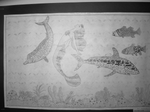 Campion College, Kingston, showcased some intricate wildlife drawings - some with mermaids.