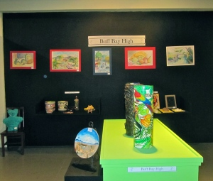 Vibrant art and craft in the schools exhibition.