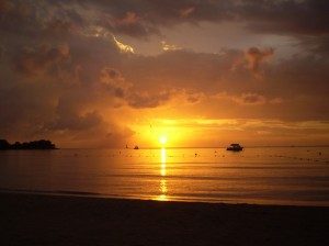 Yes, Negril sunsets ARE this beautiful. A photograph taken from Couples Resort. (Photo: caldwelltravel.com)