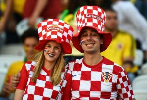 Unusual lipstick design on the left here. Let's hope Croatia do better in the next game. It was a tough draw, playing against Brazil in the opener.